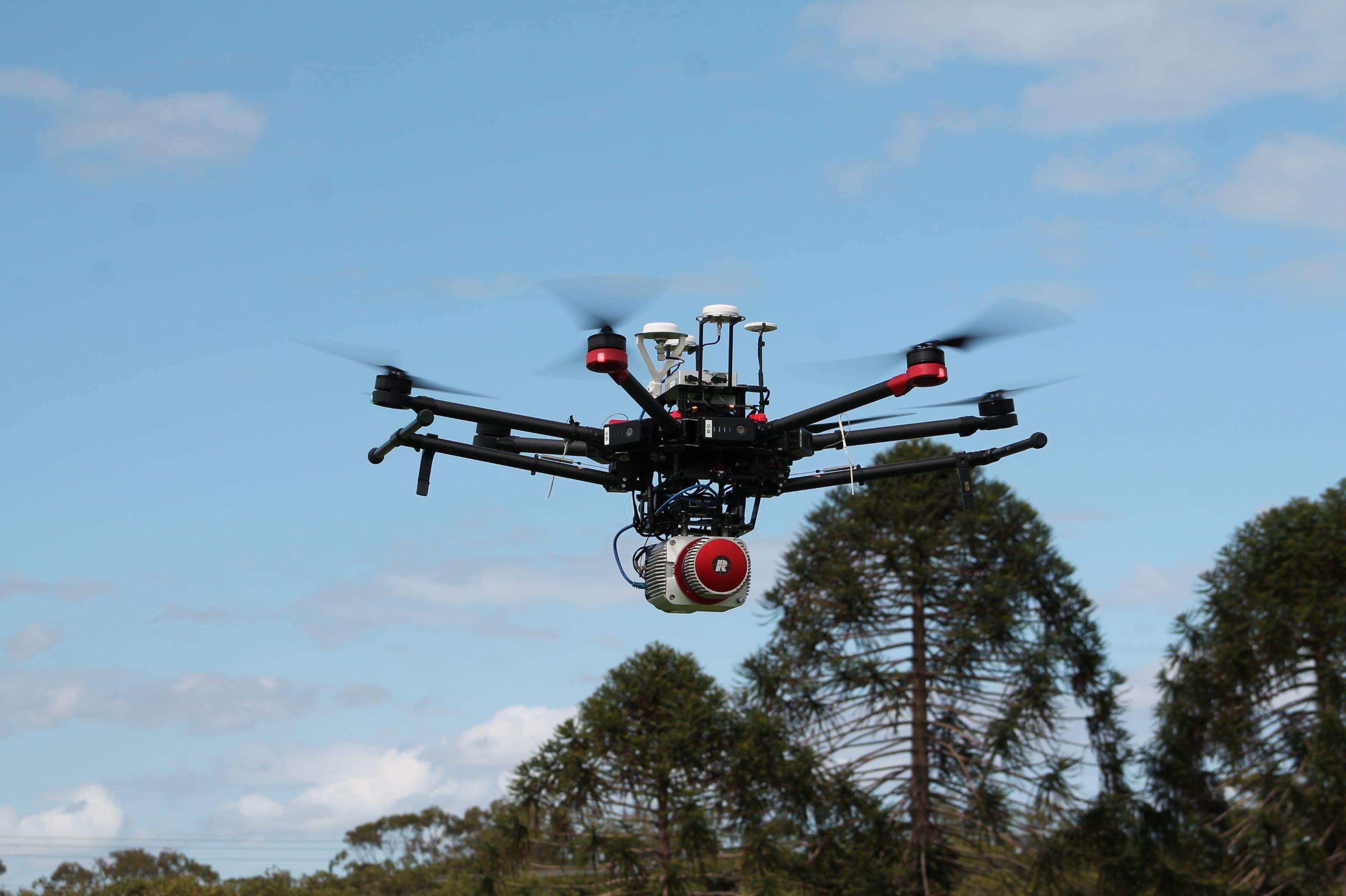Multi-rotor UAV with LiDAR