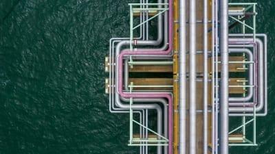 Aerial view pipelines